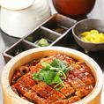 新潟県魚沼産のコシヒカリを使用した鰻のひつまぶしは、ディナーは勿論ランチでお手軽にご堪能いただけます。予約限定メニューとなっており、ランチピーク時並ばずに個室でゆっくりお食事の時間をお過ごしいただけます。1ドリンク付き3800円(税込)。