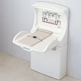 女性トイレ内に赤ちゃんのオムツ替えシートがございます。