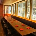 【半個室のソファー席】ソファー席はテーブルを繋がれば最大24名まで宴会も可能です♪人数に合わせて宴会できます。
