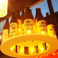 【瓶ビールでシャンデリア】