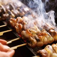 当店オススメ!備長炭で炙った絶品『比内地鶏串焼』