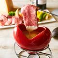 料理メニュー写真お肉とチーズの最強タッグ♪自家製ローストビーフフォンデュ