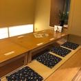 【掘りごたつ個室10名×1】障子で店内と仕切られた小上がりです。宴会の席にご利用できます。お気軽にお問あわせください。室内は4名席と6名席に区切ることもできます。