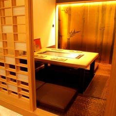 他のお客様と距離を保つ個室が人気。