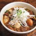 料理メニュー写真もつ煮/揚げ出し豆腐
