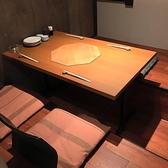 4名様でご着席頂けるお席です。気の合う仲間と美味しいお料理とお酒を楽しんで…♪