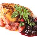 料理メニュー写真特選 フォアグラのポワレ~季節フルーツのジャムソースを添えて~