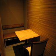各種宴会に最適大小様々なテーブル個室完備!