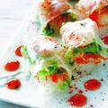 料理メニュー写真明石鯛と海老の生春巻き