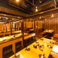 ◆ 最大80名様までご案内可能な広々店内 ◆貸切宴会・パーティーは最大80名様までご案内可能です!会社の宴会にもってこいのお部屋となっております!お得なクーポンも多数ご用意ございますので是非伴わせご利用ください!