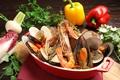 料理メニュー写真本日の鮮魚スープ仕立て/ブイヤベース
