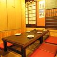 会社の飲み会もプライベートなお食事にも最適な店内です。小さいお子様もOK!ご安心して座っていただけます。座敷もテーブルもございます。