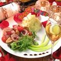 料理メニュー写真アニバーサリーミートブーケプレート