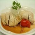 料理メニュー写真蒸し鶏(白切鶏)