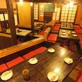 会社のみ、同窓会、女子会、打上げetc.に◎ファミリーや友達同士等に最適なテーブル席もございます。会社の飲み会もプライベートなお食事にも最適な店内です。