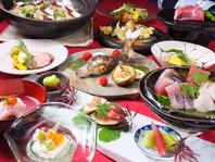 新鮮なお刺身と湯葉料理、和食