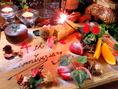 4周年を迎えたAkizが贈る記念日/誕生日におススメのデザートプレート♪お好きなメッセージをお入れいたします。前日までにご予約ください。