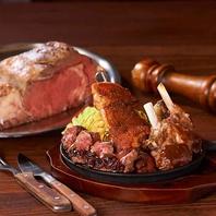 新登場!ローズ肉盛りプレート!3種の肉グリル盛合せ!
