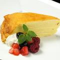 料理メニュー写真 各ミルクレープ/手作りベイクドチーズケーキ/ざくざくチョコケーキ