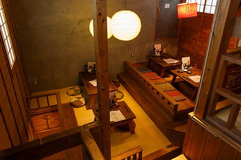 古民家風の店。こだわりのランチ&カフェメニュー☆夜の嗜好を凝らしたメニューも◎