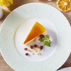 料理メニュー写真焼チーズケーキ