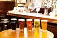 常時5種類の生ビールをご用意してます。