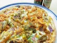 料理メニュー写真キムチピザ