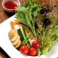 料理メニュー写真有機野菜のお造り