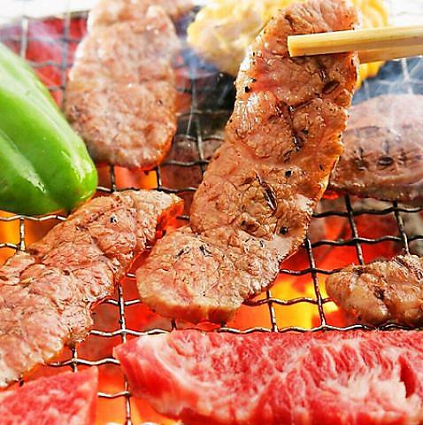 炭火焼肉でがっつり焼肉宴会♪最大20名様までOK!飲み放題付きコース2980円~とおトク