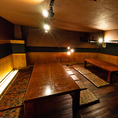 ロフト上での隠れ家席はプライベートな宴会にオススメ!!ゆったりとプライベートで心地よいひと時をどうぞ。
