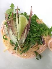 料理メニュー写真リコッタチーズと明太子スパゲッティ