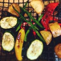 旬のお野菜はシンプルに炭火焼で(^^)