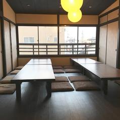 2F お座敷個室 最大55名様までOK!※人数が多い場合は予めご予約をおすすめ致します。※お座敷には相部屋、半個室、個室がございます。