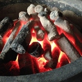 炭の香り、温かさを感じて