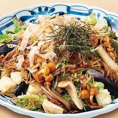 揚げ豆腐と木の子のヘルシーサラダ