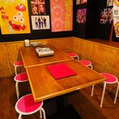 4~6名様での飲み会、女子会、合コンにもお使い頂き易いお席です。人数に合わせてテーブルを組み合わせお席をご用意することが可能ですのでご要望がございましたらお気軽に店舗までお申し付けください♪