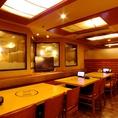 テーブル席!大人数でワイワイ楽しむ宴会にぴったり!【上野 居酒屋 個室】【会社の飲み会もプライベートなお食事にも最適な店内です。個室 居酒屋 食べ放題 飲み放題 宴会 個室 接待 和食 大人数 おすすめ 人気 貸切】