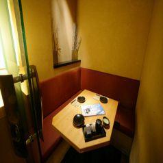 限定1席!2名様専用の和モダン個室です。カップルシートとしてお使いいただけますのでデートのご利用に最適な特別なお席です。