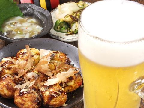 大阪駅前第4ビル内★美味しくリーズナブルにお酒を楽しめるたこ焼き酒場★