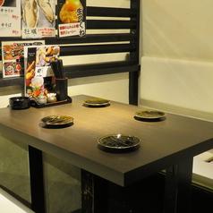4名用のテーブル席