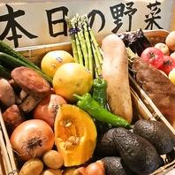 四季折々の旬菜、野菜にもこだわっています!