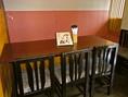 半個室だから、プライベート空間も確保。周りを気にせずに食事やおしゃべりを楽しめる空間。