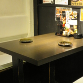 2名用のテーブル席