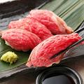 料理メニュー写真SNS大注目!話題の炙り肉寿司♪
