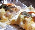 【とん平焼】ご飯(おかわり可)漬物・みそ汁各50円