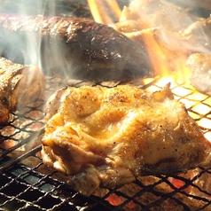 赤鶏もも肉の炭火焼