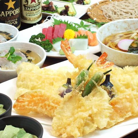 揚げたて天ぷら/のどごし抜群の蕎麦&うどん/創作料理が自慢★NEW⇒飲放付4000円コース