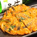 料理メニュー写真【トッピングチヂミ】香蘭チヂミ