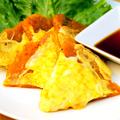 料理メニュー写真キムチチーズチヂミ