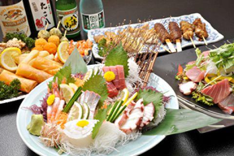 ◆ご宴会コース(2h飲み放題付き)◆全7品 4500円◆前日迄要予約◆